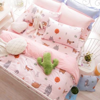 OLIVIA 童話星球 粉 雙人全鋪棉床包兩用被套四件組歐枕 40支天絲TM萊賽爾 台灣製