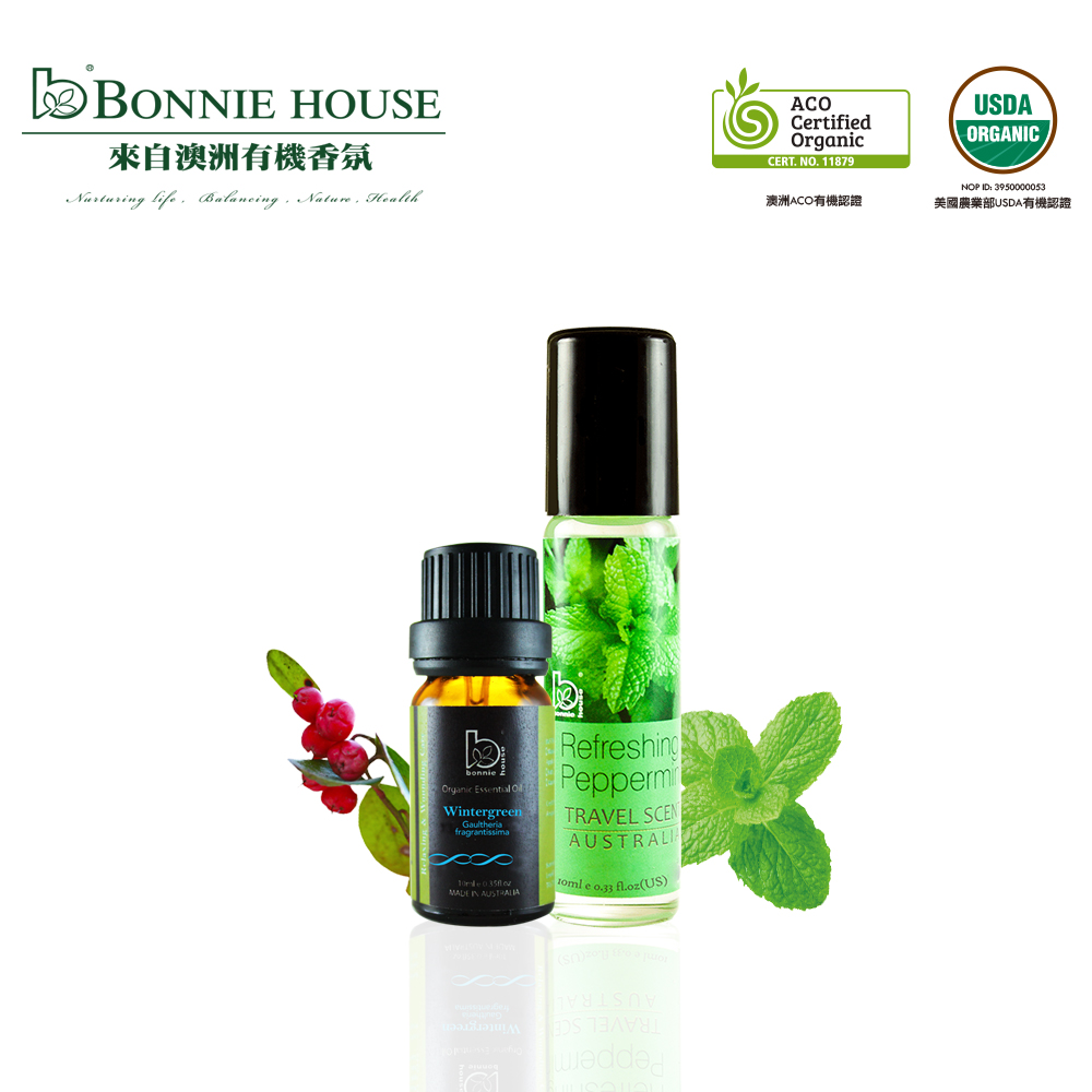 Bonnie House 冬青精油10ml+薄荷香氛棒10ml