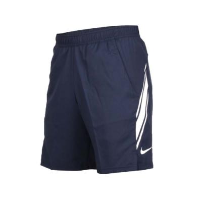 NIKE 男運動短褲-慢跑 路跑 深藍白