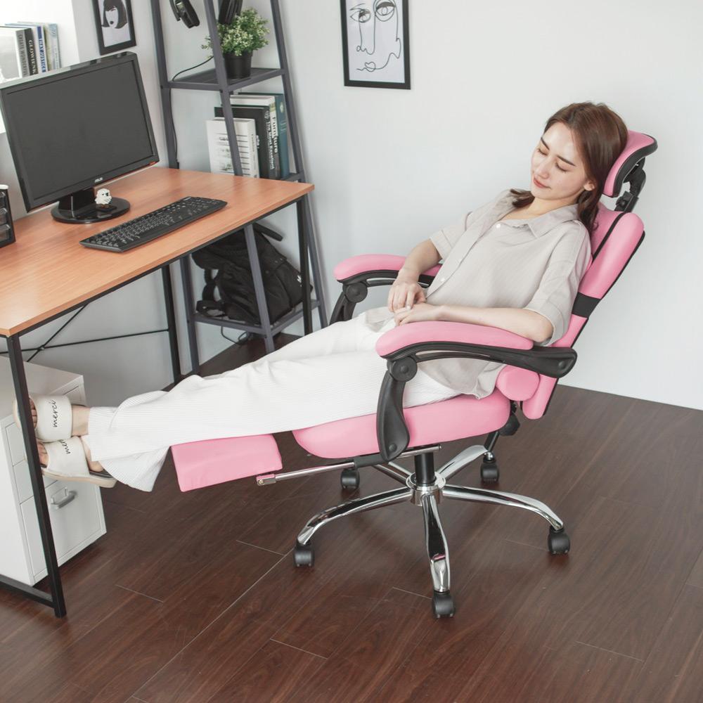 Home Feeling 電腦椅/頭靠/腳靠/靠枕(5色)-60.5X48X121