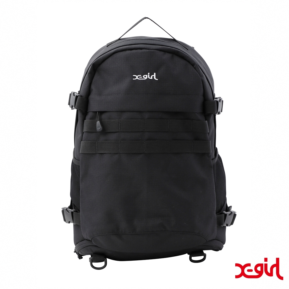 X-girl MILLS LOGO ADVENTURE BACKPACK登山包-黑 product image 1