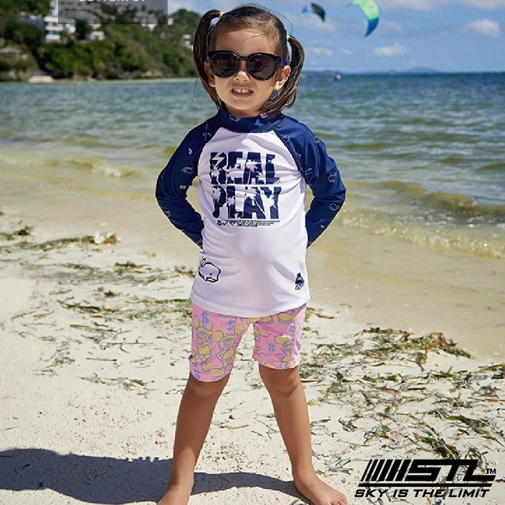 STL kids 兒童 韓國 海灘/海邊 機能運動戶外 5分水母褲 凱斯哈林粉