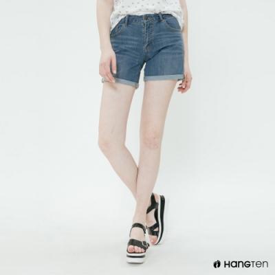 Hang Ten - 女裝 - 經典仿舊刷色牛仔短褲 - 藍