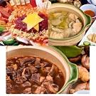 蔥阿伯嚴選 買就送 鍋鍋饞‧羊肉爐+歐霸部隊鍋+東北酸白菜鍋,加贈三杯雞X3包(共6包)