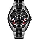 MINI Swiss Watches英國旗幟經典腕錶(MINI-53ES)-黑/45mm