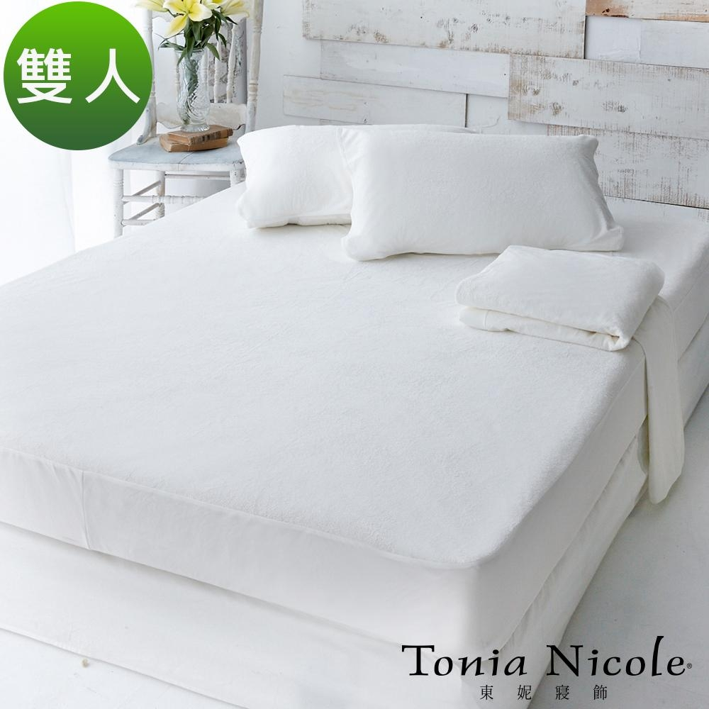 Tonia Nicole 東妮寢飾防水透氣包式保潔墊(雙人)+枕頭平面保潔墊(2入)