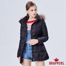 BRAPPERS 女款 長版羽絨外套-黑