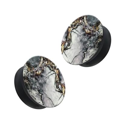 大理石 伸縮氣囊 防摔 手機支架 耳機繞線 支架 桌面支架-紫*1