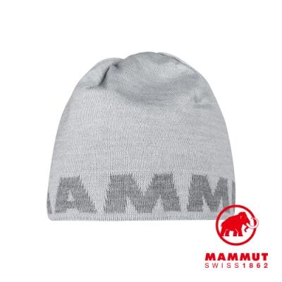 【Mammut 長毛象】Mammut Logo Beanie 正反兩用LOGO保暖羊毛帽 公路灰 #1191-04891