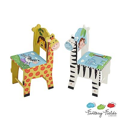 Teamson 叢林探險兒童木製椅子 (2入組)