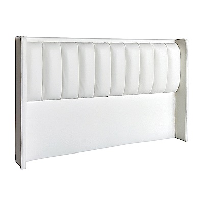 AS-珀麗白色雙人5尺床頭片-164x14x117cm