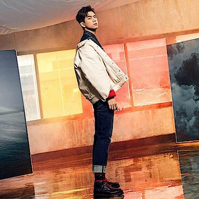 Levis 男款 上寬下窄 502Taper牛仔褲 深藍刷白 CNY限量系列 金赤耳 金旗標