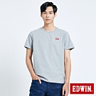 EDWIN 第七代 基本LOGO 短袖T恤-男-麻灰色
