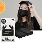 全方位療癒動物 活性碳口罩-獨立包裝(4盒共200片)