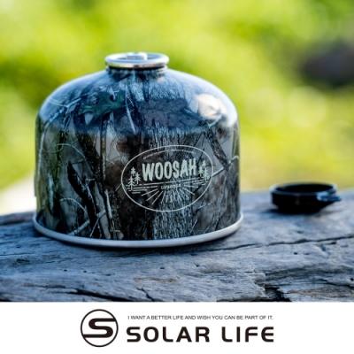 Woosah有鬆 樹葉迷彩高山瓦斯罐230g.高山瓦斯瓶 高山瓦斯罐 混合丙丁烷瓦斯罐