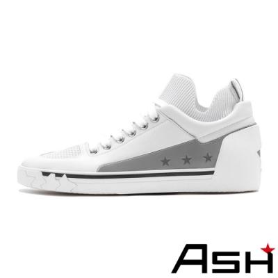 ASH-NIPPY魔術貼透氣素面滑板鞋-白