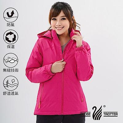 【遊遍天下】女款防風透濕保暖無車縫羽絨機能外套GJ22008玫紅