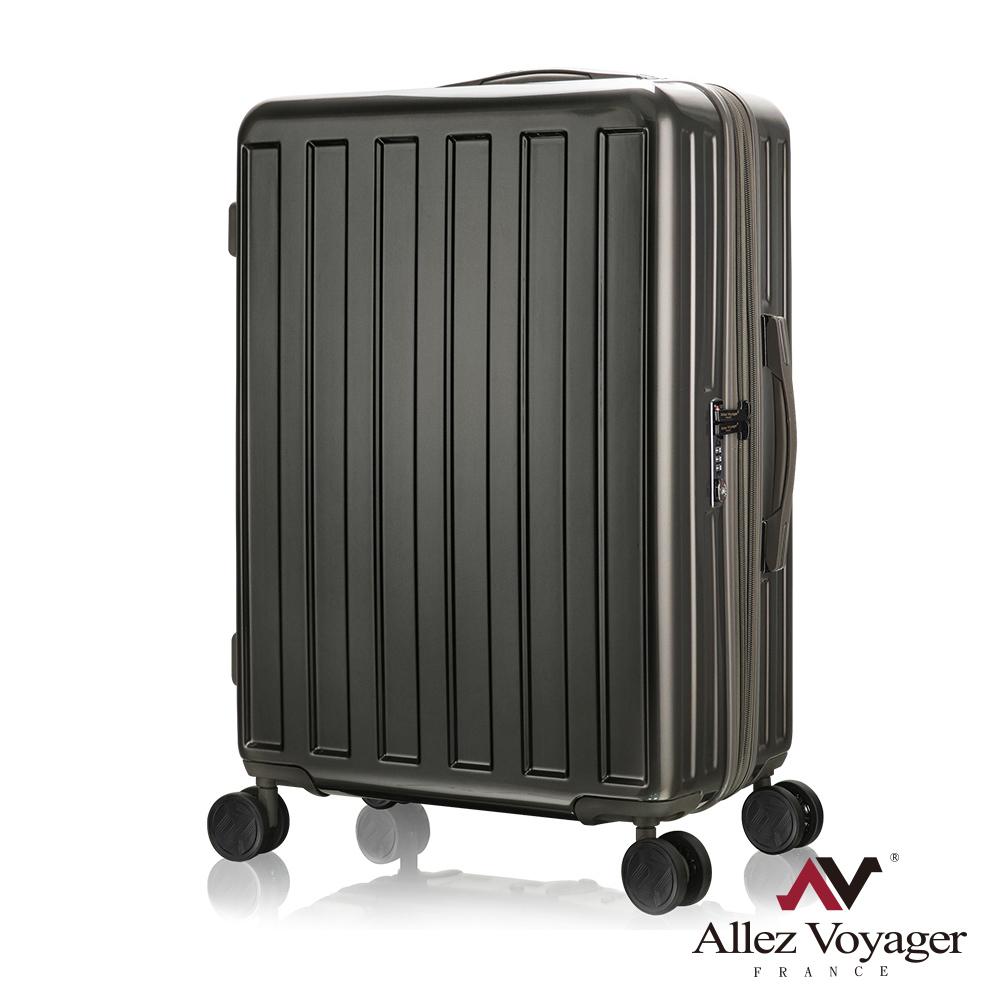 奧莉薇閣 28吋行李箱 PC大容量硬殼旅行箱 貨櫃競技場(深灰)