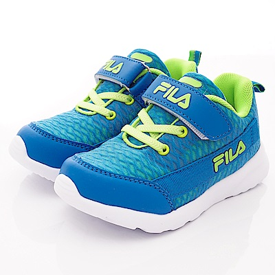 FILA頂級童鞋 透氣反光運動款 FO24T-336藍綠(中大童段)