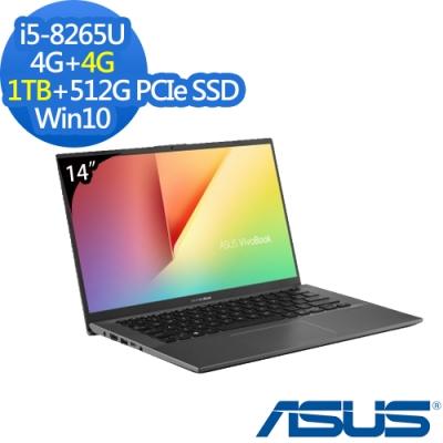 ASUS X412FA 14吋筆電 i5-8265U/8G/1TB+512G/Win10特