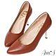 Ann'S優雅韻味-頂級小羊皮夾心電鍍銀跟尖頭鞋-棕 product thumbnail 1