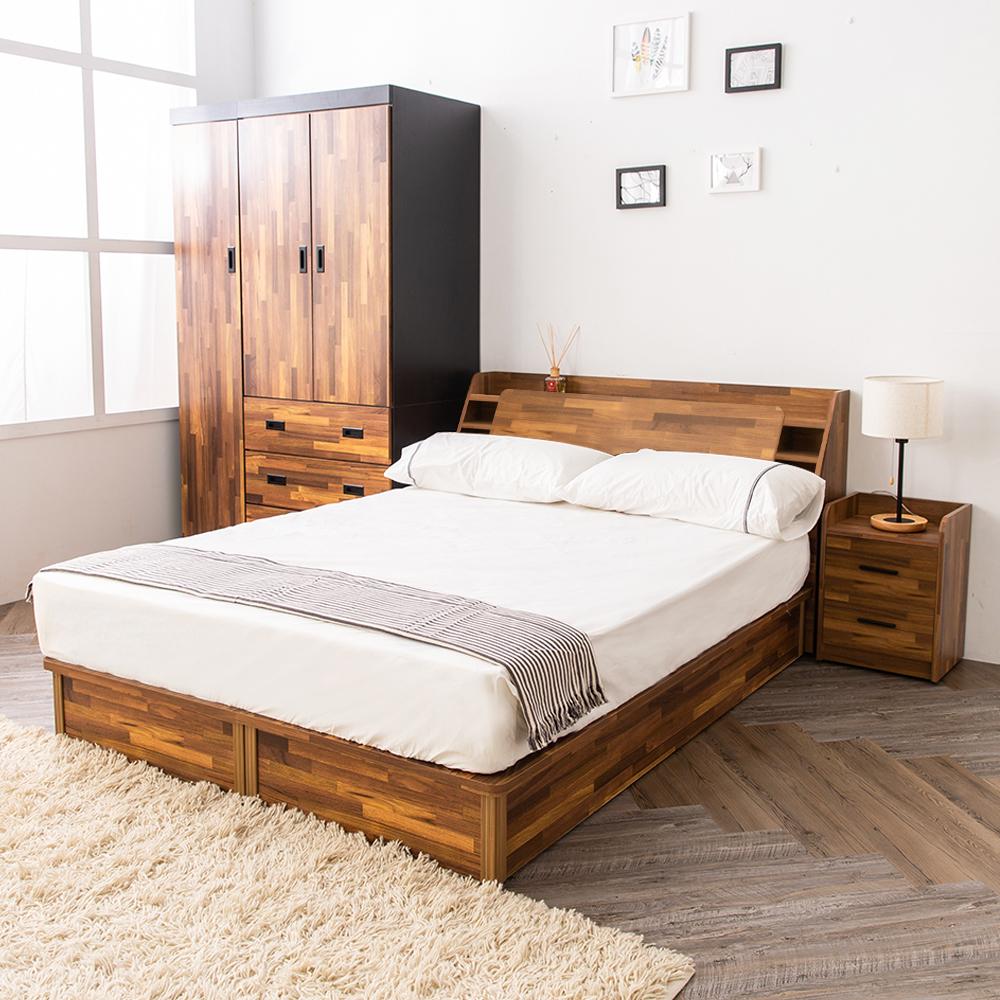 時尚屋 喬納斯床箱型5尺房間組-床箱+床底(不含床頭櫃-床墊)