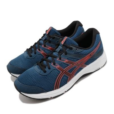 Asics 慢跑鞋 Gel-Contend 6 運動 男鞋 亞瑟士 路跑 耐磨 緩衝 入門 亞瑟膠 藍 紅 1011A667402