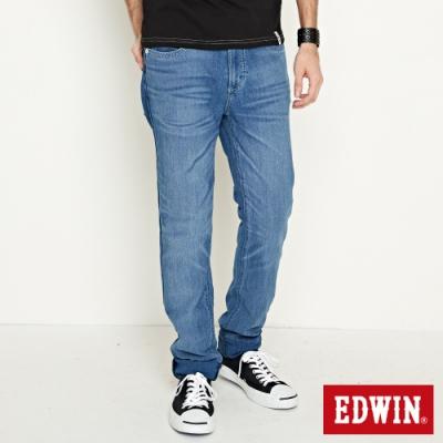 EDWIN JERSEYS 迦績 涼感PK重水洗AB牛仔褲-男-石洗藍