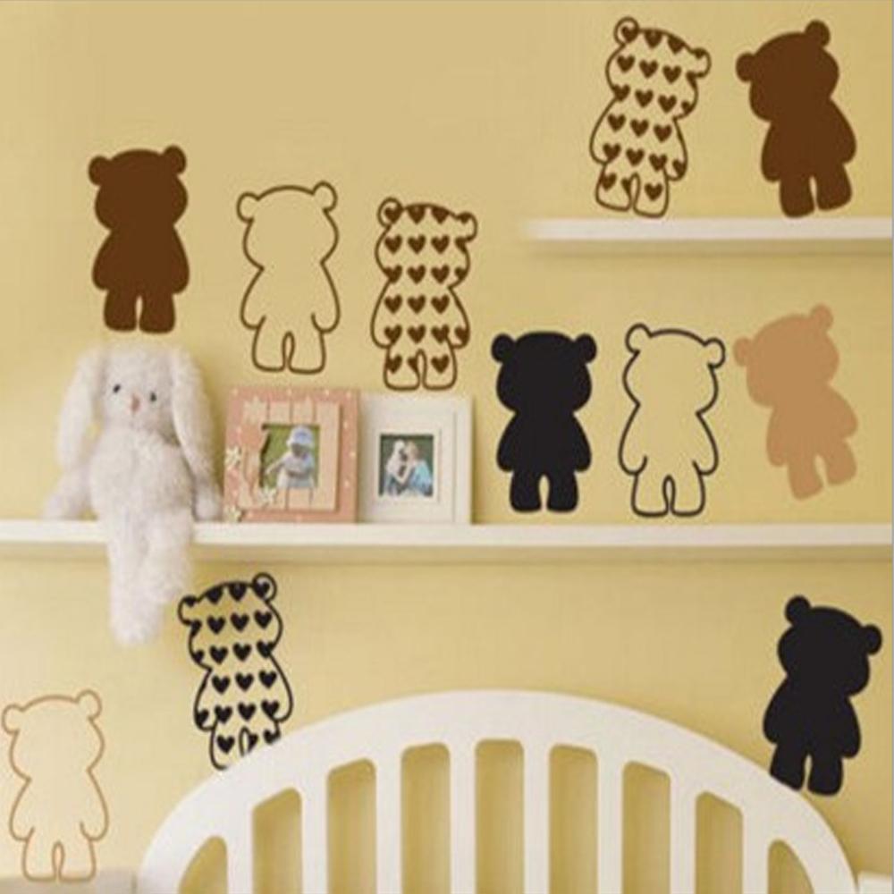 半島良品 DIY無痕壁貼-可愛小熊貼 AY6039 45x60cm