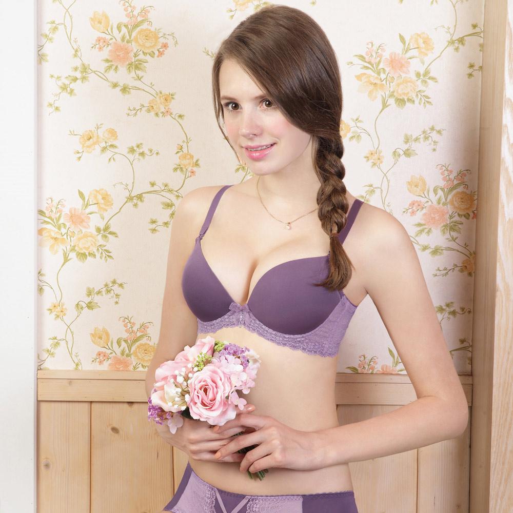 瑪登瑪朵-15AW-我挺妳素面內衣  B-E罩杯(迷戀紫)