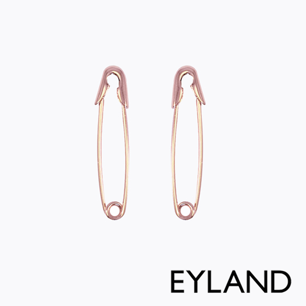 Eyland英國倫敦 FAUNA EARRINGS 玫瑰金迴紋針日常風格耳環