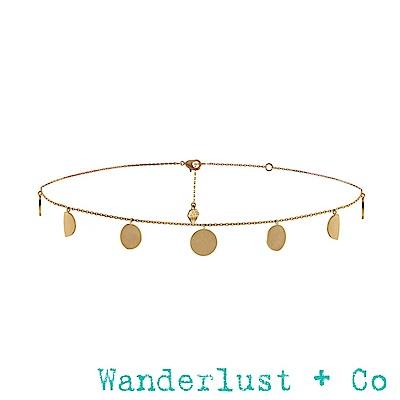 Wanderlust+Co月蝕頸鍊 - 金色