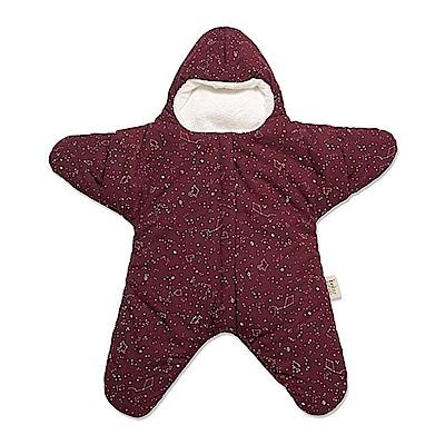 【小海星標準版-葡萄紅】鯊魚咬一口BabyBites純棉嬰幼兒睡袋