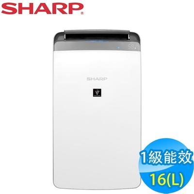 SHARP夏普 16L 1級自動除菌離子清淨除濕機 DW-LJ16T-W