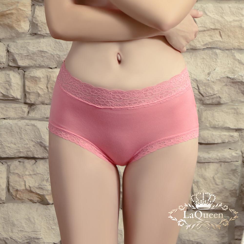 內褲  超柔軟親膚蕾絲褲-玫紅 La Queen