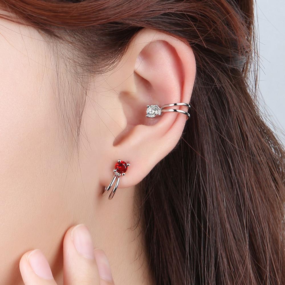 梨花HaNA 無耳洞韓國極簡單顆鑽石耳環夾式