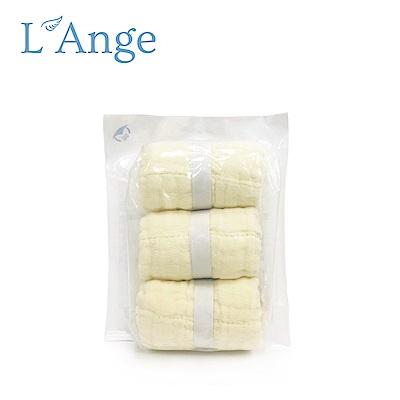L Ange 棉之境 9層多功能紗布小方巾 22x22cm 3入組-黃色 @ Y!購物