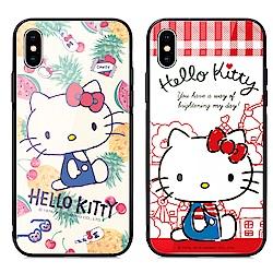 GARMMA Hello Kitty iPhone XR 鋼化玻璃殼