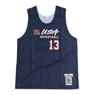 M&N Authentic球員版練習賽雙面球衣 96 Dream Team #13 Shaquille Oneal