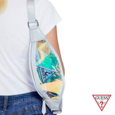 GUESS-女包-時尚休閒腰包-透明 原價2090