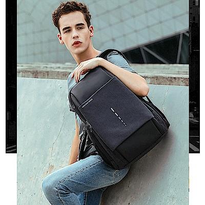 leaper 都會時尚15.6吋USB充電耳機孔電腦後背包 共2色