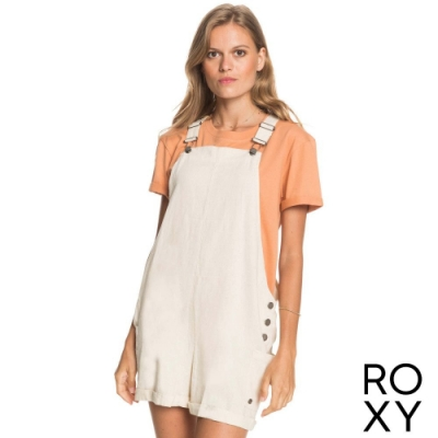 【ROXY】LOW RISING 吊帶短褲 米色