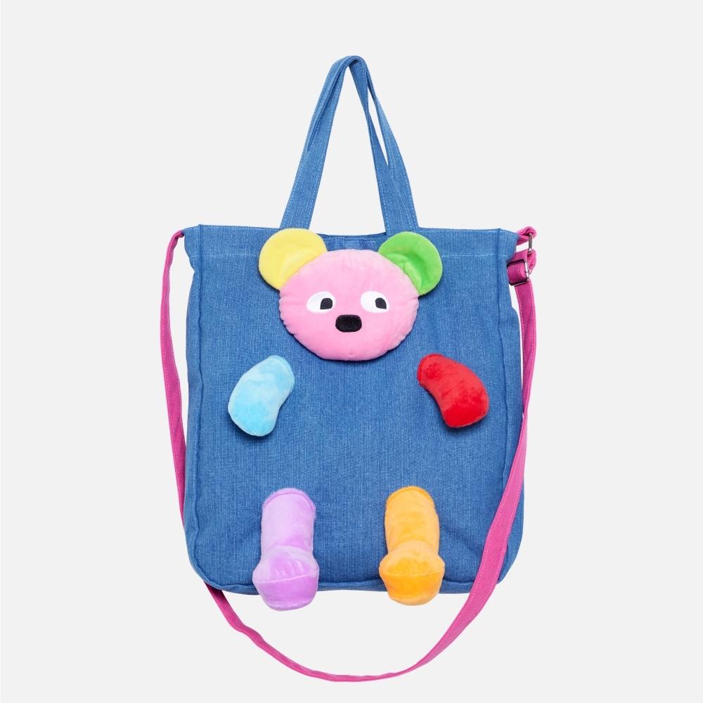 WHY AND 1/2 立體普普熊側背包