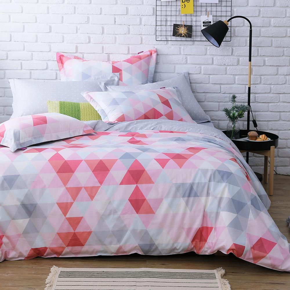 IN HOUSE-pink prism-200織紗精梳棉-兩用被床包組(雙人)