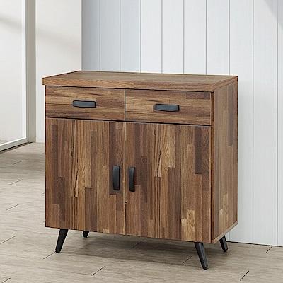 Homelike 里悟2.7尺碗盤收納櫃(積層木)-81x41x86cm