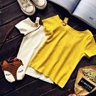 小衣衫童裝 時尚金扣斜肩短袖上衣1060404