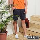 JEEP 經典造型口袋短褲-藍色