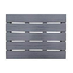 【貝力地板】造景塑木踏板 (灰 - 45 x 60cm)