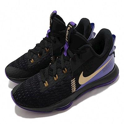 Nike 籃球鞋 LeBron Witness 5 男鞋 氣墊 避震 明星款 包覆 運動 黑 紫 CQ9381001