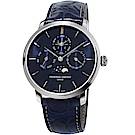 康斯登CONSTANT自製機芯萬年曆限量錶(FC-775NSP4S6)-海軍藍